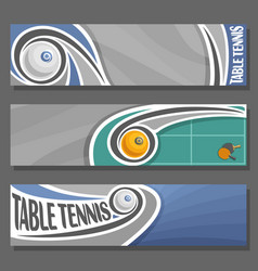 Horizontal banners for table tennis vector