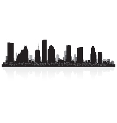 Houston USA city skyline silhouette vector image