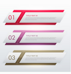 infographic design template for three steps vector image vector image