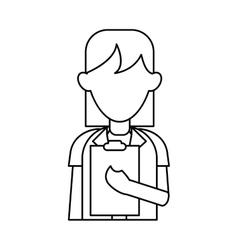 Medical doctor stethoscope coat clipboard report vector