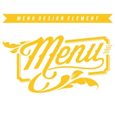 Menu Design Element vector image vector image