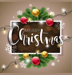merry christmas on brown vector image vector image