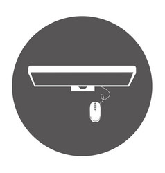 Monitor computer with mouse isolated icon vector