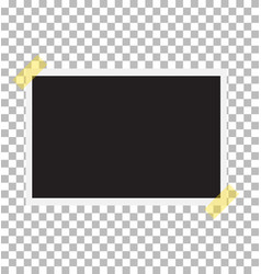 photo frame on sticky tape template photo design vector image vector image