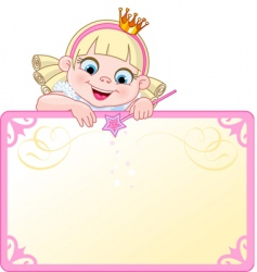 princess invitation vector image vector image