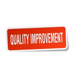 Quality improvement square sticker on white vector