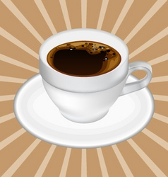 Realistic coffee cup vector