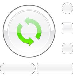 Refresh white button vector