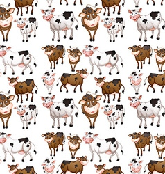 Seamless cow vector image vector image