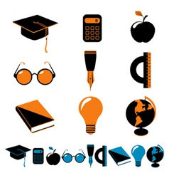 set of education vector image vector image