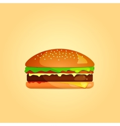 Simple Burger Icon eps 10 vector image vector image
