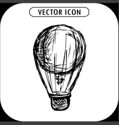 steampunk vintage hot air balloon hand drawn vector image vector image