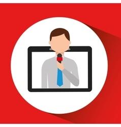 Technology digital tablet news correspondent vector