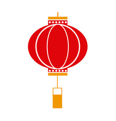 Traditional chinese lantern in a flat style icon vector
