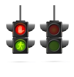 Traffic lights set realistic vector