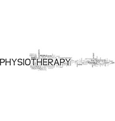 what is physiotherapy text word cloud concept vector image
