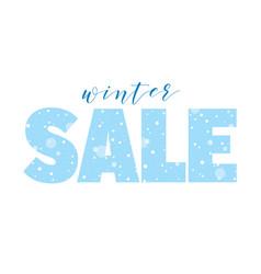 Winter sale seasonal banner with snow vector