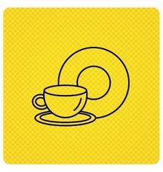 Coffee cup icon food and drink sign vector