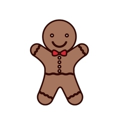 Cookie christmas with red bow in neck vector