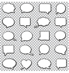 Bubble speech set vector