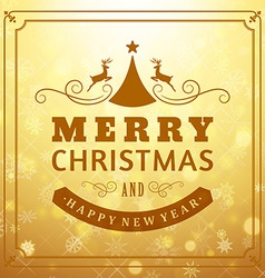 Merry christmas message and light background with vector