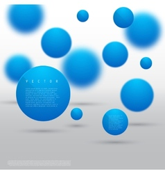 Abstract geometric shape from blue circles vector