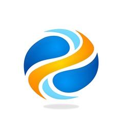 Round swirl logo vector