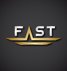 Eps10 fast text icon vector