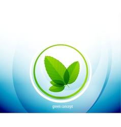 Green circle nature concept vector