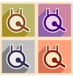 Stylish collection icons of a chinese gong vector
