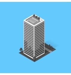 Skyscrapers house building icon vector