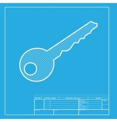 Key sign  white section of icon on vector