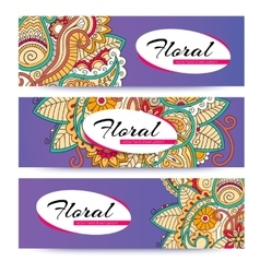 banner with doodles vector image