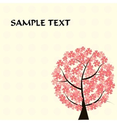 beautiful floral tree card vector image vector image