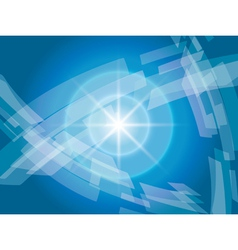 blue background with geometric abstractions vector image