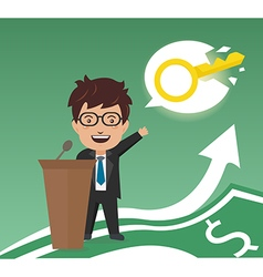 Business and key of business success vector