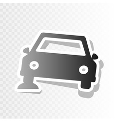 Car parking sign new year blackish icon vector