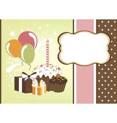 Celebration card vector image vector image