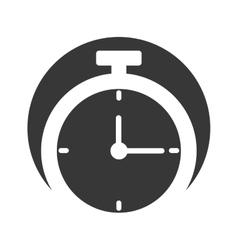 Chronometer watch isolated icon vector