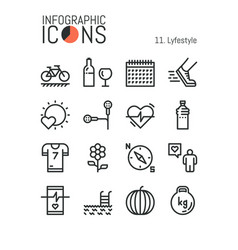 Collection of creative thin line lifestyle vector