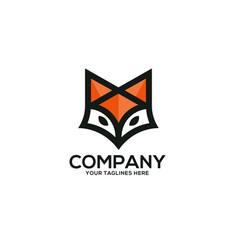 Creative fox head logo vector