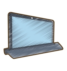 drawing laptop technology electronic gadget vector image vector image