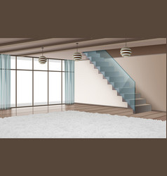 eco-minimalist style interior vector image