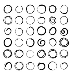 hand-drawn scribble circles abstract doodle vector image vector image