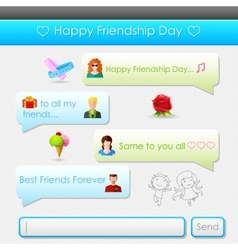 Happy friendship day message vector