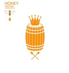 Honey Barrel vector image vector image