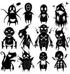 Little monsters set 06 vector