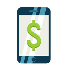 Mobile banking flat icon business and finance vector