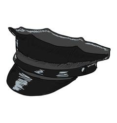 Police peaked cap vector