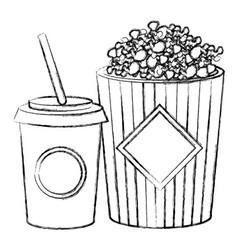 pop corn with soda vector image